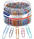 "Paper Clips, Medium & Large (1.1"" & 2"") Paper Clip Assored Size, Durable and Rustproof, 450 PCS Vinyl Coated Paperclips…"