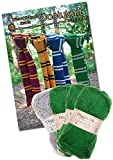 Wizard School Scarf Knitting Bundle Pack. Wool and Knitting Pattern Provided! (Green)