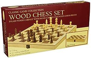 Classic Wood Folding Chess Set