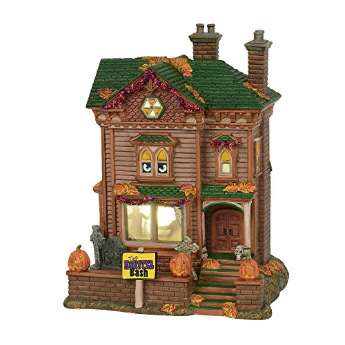 Department56 Snow Village Halloween Monster Mash Party House Animated Musical Lit Building, 10