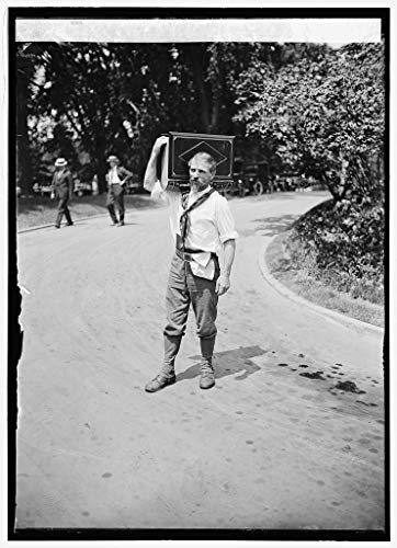 Reproduced 16 x 20 Photo of: Joseph Frank at White House, Washington, D.C, with Album for Autographs, 8/6/24 1924 National Photo Company