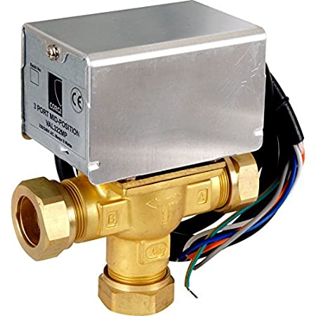 Corgi VAL322MP-C 3 Port Mid-Position Motorised Valve - Chrome/Brass ...
