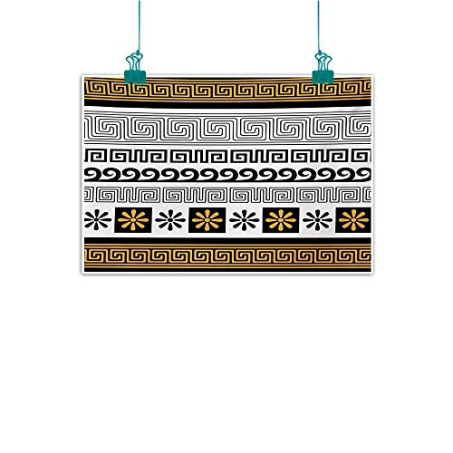 Warm Family Greek Key Simulation Oil Painting Traditional Ornament from Greece Historical and Cultural Heritage Theme Decorative Painted Sofa Background Wall 28