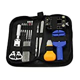 Kbnian 13 pieces Adjustable Watch Repair Tool Kit, Back Case Holder Opener,Watch Brand Strap Link Removal Tool,Spring Bar Repair Tool Kit