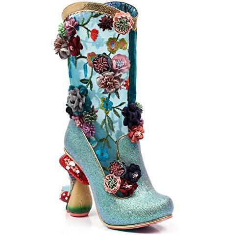 Irregular Choice Angelica Pearson Faerie Heel Glitter Boot Turquoise, 40 -