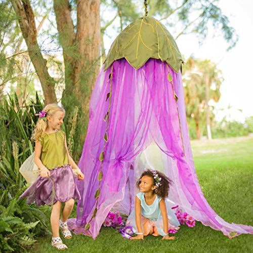 Kukakoo Fashion Folding Children Dome Tent Mosquito Net Bed Curtain Canopy Girl Room Decoration - Purple
