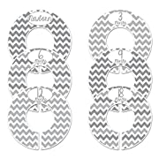 Closet Doodles Gray Chevron Baby Closet Dividers Set of 6 Fits 1.25inch Rod (Single Months)