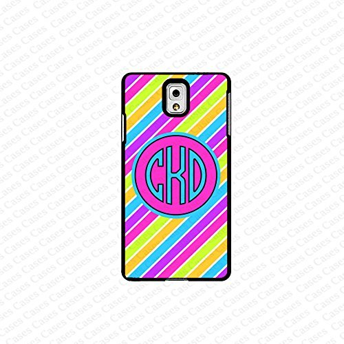 krezy case monogram Galaxy Note 4 case- monogram Personalized colorful stripes samsung Galaxy Note 4 case- fits...