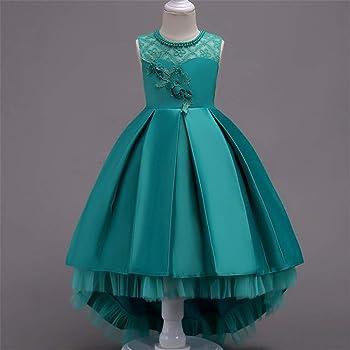 Amazon.com: Hoxekle Vestido formal para niñas de verano ...