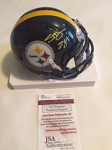 311ff886e02 Amazon.com: Sean Davis Signed Pittsburgh Steelers Mini Helmet - JSA ...