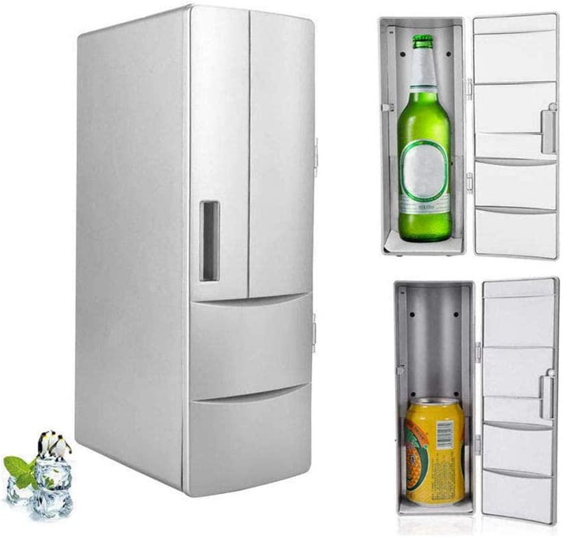 Mini Refrigerator, Portable Mini Fridge Electric Cooler and Warmer, Multifunctional Drink Cooler Travel Fridge Freezer with LED Lights For Bedroom/Office/School/Car etc