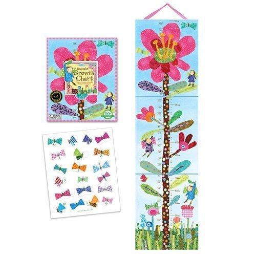 - eeBoo Hot Pink Flower Growth Chart by eeBoo