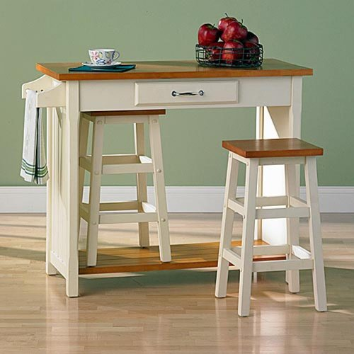 Nantucket 3 Piece Small Breakfast Set with Nesting Stools