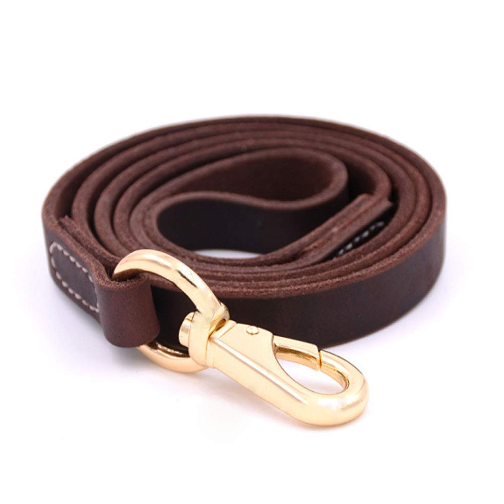 Brown 1102.545 Brown 1102.545 Dog Leash and Oversized Dog Collar Set, Suitable for Medium and Large Dogs Using,110 cm Long- Black (color   Brown, Size   110  2.5  45)
