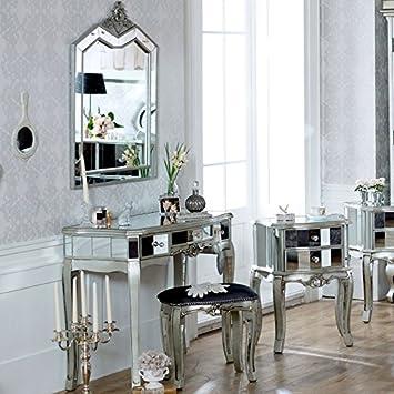 Tiffany Serie U2013 Schminktisch, Hocker Und 3 Schubladen Verspiegelt Spiegel  Schlafzimmer Set