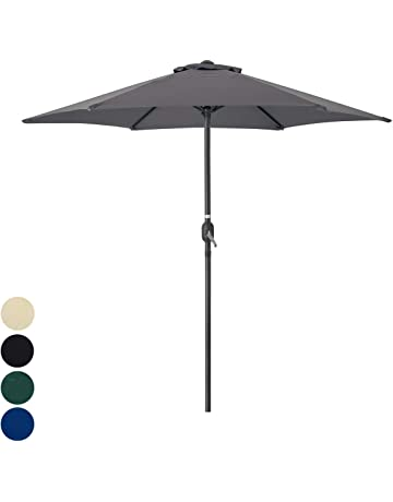 adfe213b460f9 Christow 2.4m 2.7m Garden Parasol Umbrella Outdoor Sunshade Aluminium Steel  Sun Shade UV