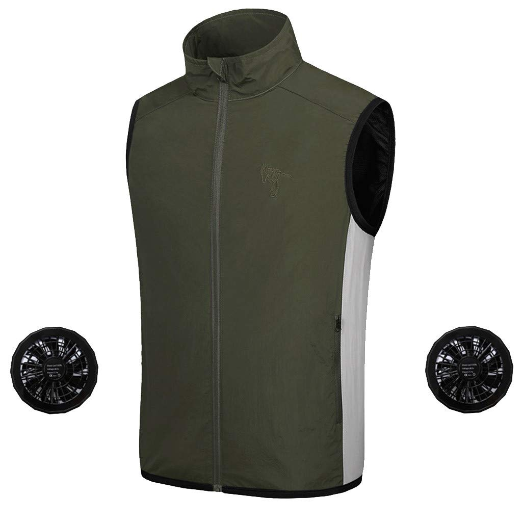 Summer Air Conditioning Heatstroke Countermeasures Outdoor Working Clothes Top Army Green