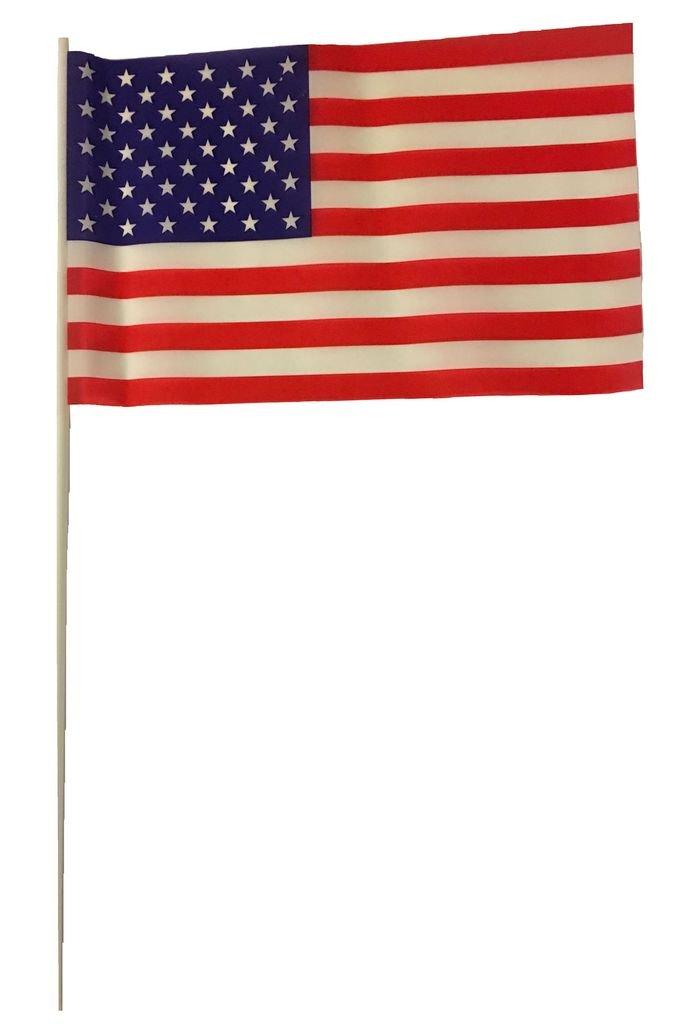 Lot of 12 Mini Patriotic Plastic American Flags