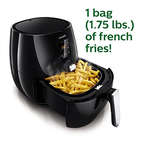 Philips Digital Airfryer, The Original Airfryer, Fry Healthy with 75% Less Fat, Black HD9230/26