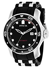 Invicta Men's 'Pro Diver' Automatic Stainless Steel and Polyurethane Casual Watch, Color:Black (Model: 23626)