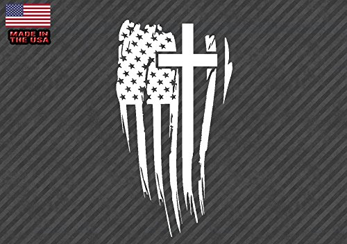OwnTheAvenue x2 American Flag Cross Sticker Decal Christian Jesus 5