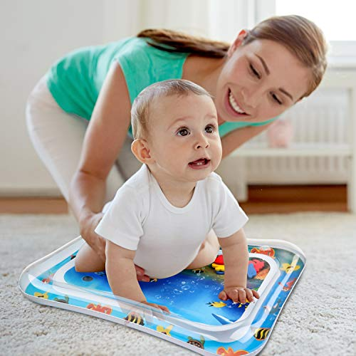 Kid Inflatable Tummy Time Water Play Mat Toys for Infants Toddlers is Perfect Sensory Toys for Baby Early Development Activity Centers