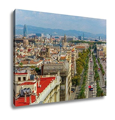 Ashley Canvas, Passeig De Colom In Barcelona Catalonia Spain, Home Decoration Office, Ready to Hang, 20x25, AG5599831 by Ashley Canvas