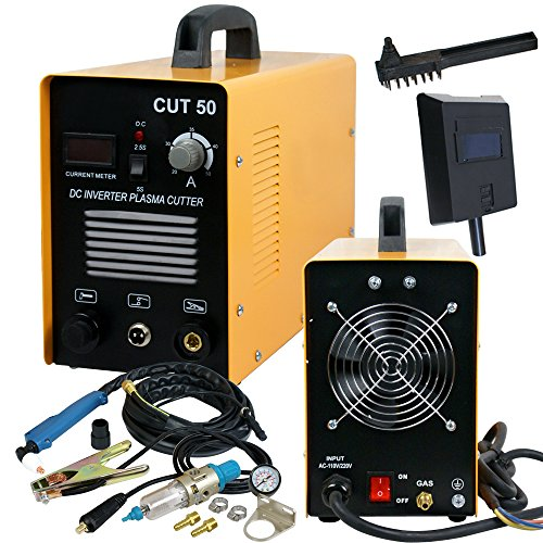 SUPER DEAL DC Inverter Plasma Cutter Welding Machine With Screen Display Dual Voltage 110/220V AC 1/2'' Clean Cut (CUT 50)