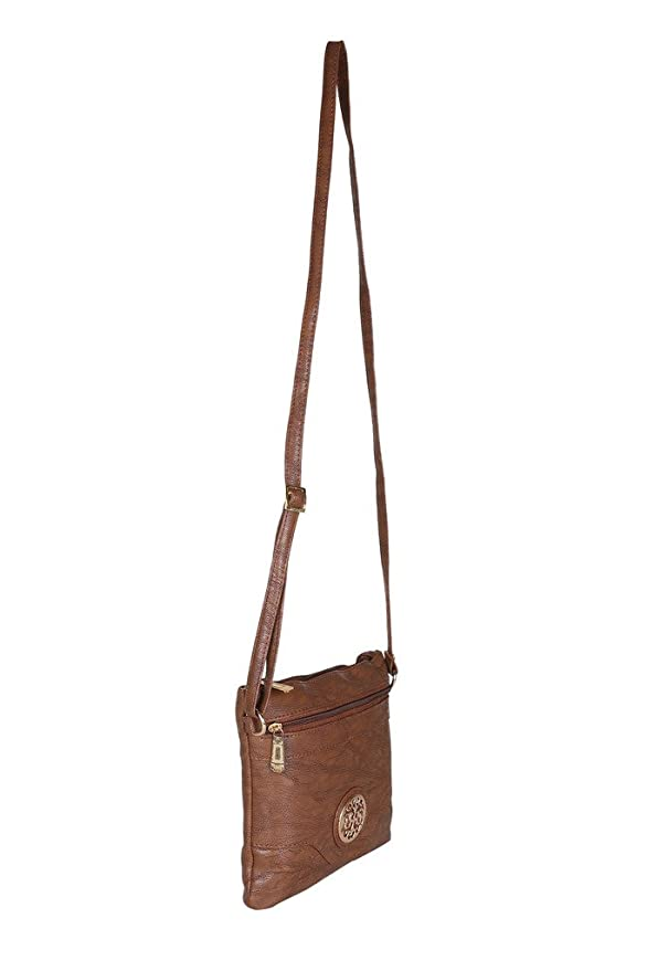 a620f68d02dd Buy Footshez New Arrival Best Hot Selling Leather Sling Bag Tote Bag Handbag  Small For Women   Girls (Tan) Low Price Sale Online at Low Prices in India  ...