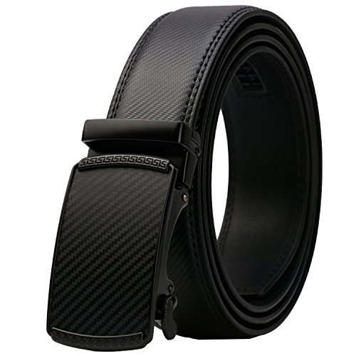 Lavemi Men's Real Leather Ratchet Dress Belt with Automatic Buckle,Elegant Gift Box(55-44371 52