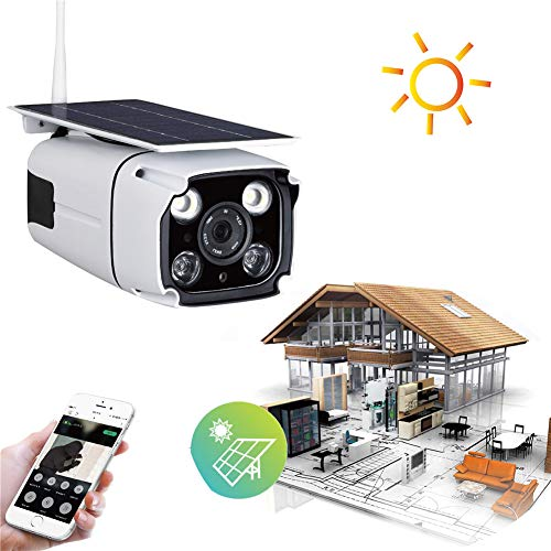 Balscw-J Cámaras de Seguridad con energía Solar Panel Solar batería Alimentado al Aire Libre Impermeable 4G inalámbrico...