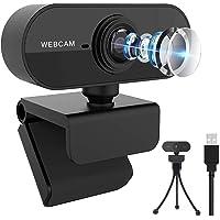 Webbkamera 1080P med mikrofon, HD-webbkamera för PC, laptop, skrivbord, MAC, USB 2.0 datorkamera Plug & Play med…