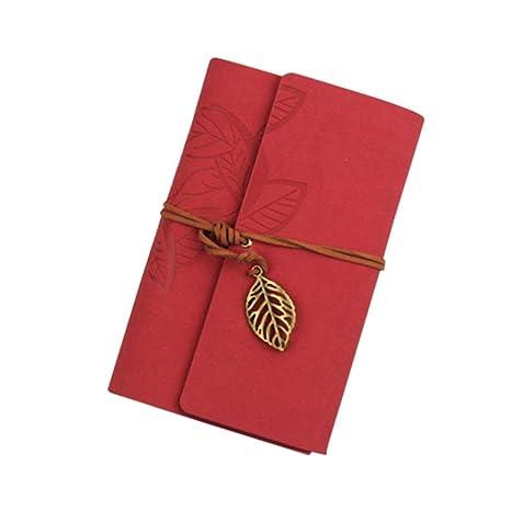 K-youth® Bloc de Notas Cuaderno de Cuero Retro Libreta Para ...