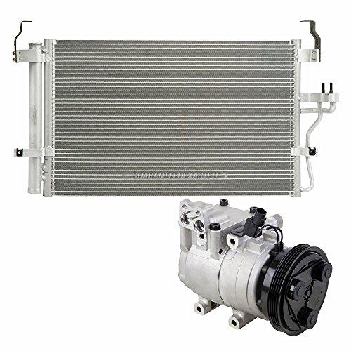 OEM AC Compressor w/A/C Condenser & Drier For Hyundai Elantra & Tiburon - BuyAutoParts 60-85229RU New