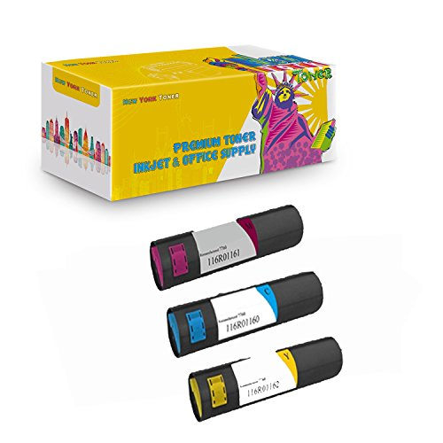 New York TonerTM New Compatible 3 Pack Xerox 116R01160 116R01161 116R01162 High Yield Toner for Xerox - Phaser: Phaser 7760 . -- Cyan Yellow Magenta