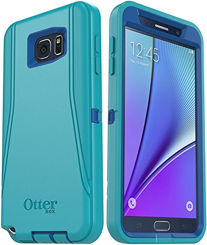 OtterBox DEFENDER SERIES Case and Holster for Samsung Galaxy NOTE 5 - Retail Packaging - Light Teal/Royal Blue