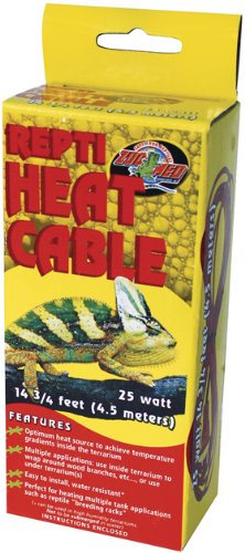 Zoo Med Reptile Heat Cable 25 Watts, 14.75-Feet by Zoo Med