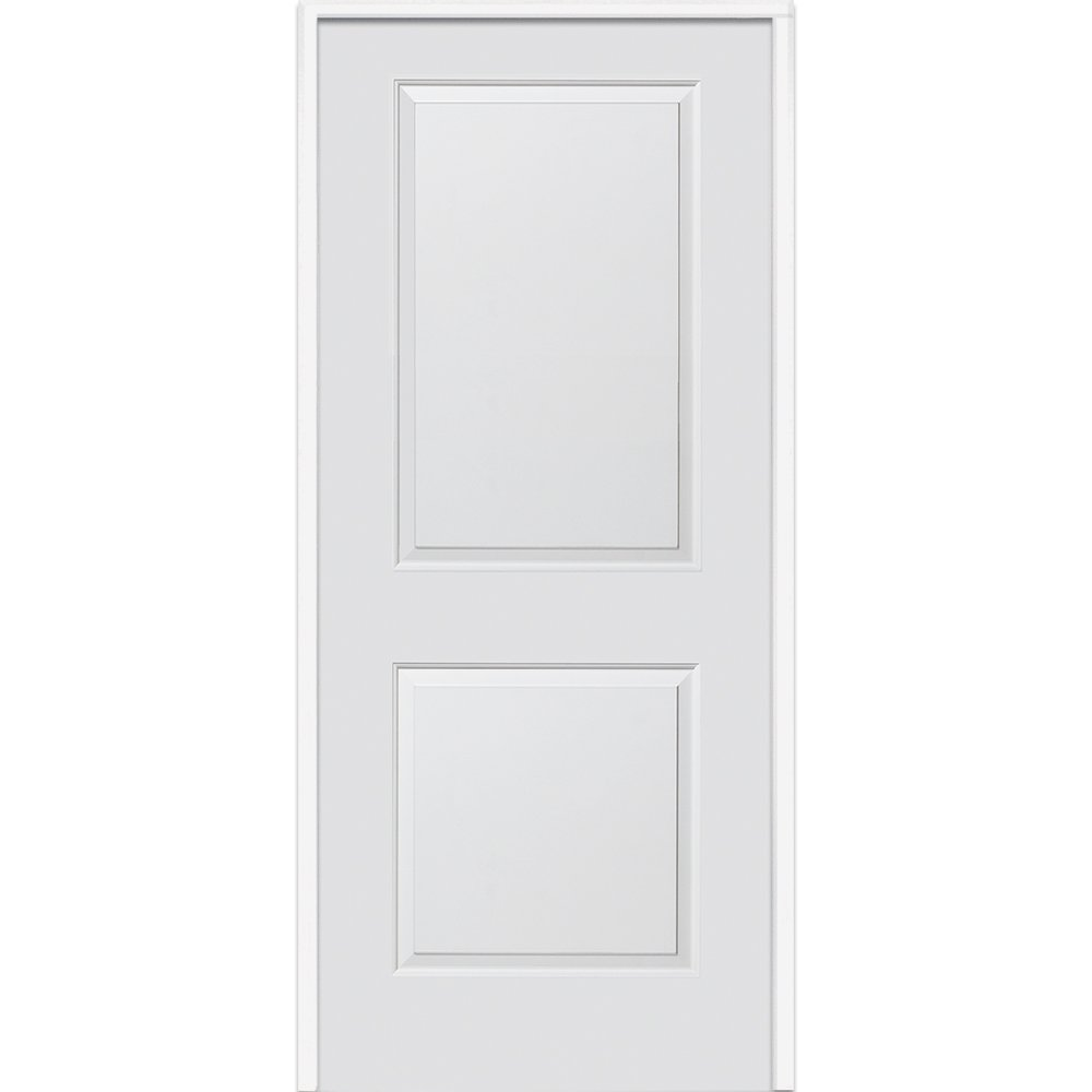 National Door Z0364404L  20-Minute Fire Rated MDF Door, Primed, Left-Hand/Inswing, 2-Panel, 32''x80''