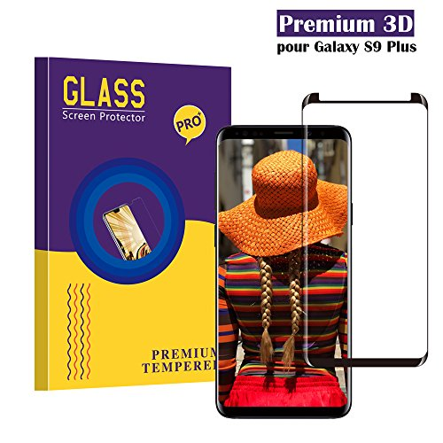 Samsung Galaxy S9 Plus Panzerglas Schutzfolie, CaiLai Hohe Qualität 3D Displayschutzfolie [9H Härtegrad] [Ultra Klar] [Anti-Kratzen] [Anti-Fingerabdruck] [Blasenfreie Installation] Gehärtetes Glas Panzerglas Folie für Samsung Galaxy S9 Plus