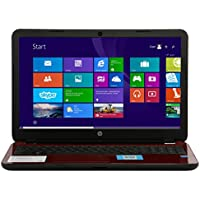 HP 15-R132WM 15.6 Laptop, Intel Pentium N3540, 2.16GHz, 4GB, 500GB, DVDRW, Win8.1, Red