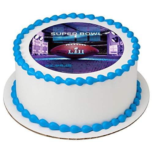 Superbowl Edible Frosting Sheet Cake Topper Licensed 7.5