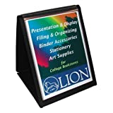 Wholesale CASE of 15 - Lion Flip-N-Tell Display Easel Books-Flip-N-Tell Vertical Easel, 11''x8-1/2'', Black