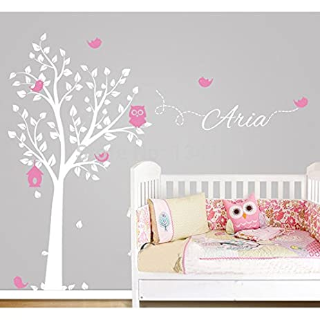 Amazoncom Custommade Owl Tree Personalized Name Vinyl Wall - Custom made vinyl wall decals