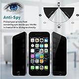 Skylarking iPhone 6 6S Plus Privacy Anti Spy Anti-Glare Ballistic Tempered Glass HD 2.5D Curve Edge Full Screen Protector 9H Hardness Anti Shatter, Anti-Scratch, Anti-Fingerprint, (iphone 6 6s plus)