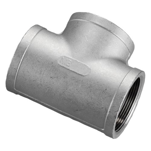 Stainless Steel 316 Cast Pipe Fitting, Tee, Class 150, 1