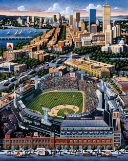 Made in USA Dowdle Boston Red Sox Baseball Stadium 500 Piece Jigsaw Puzzle