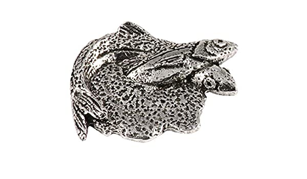 Hand Painted Creative Pewter Designs Male Brook /& Female Lake Trout Handcrafted Freshwater Fish Lapel Pin Brooch Pewter Splake FP020A