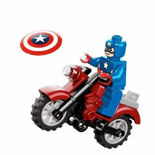 Lego Marvel Super Heroes Captain America and Motorcycle