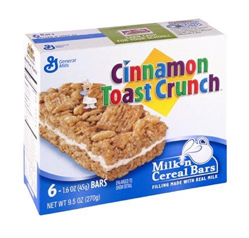 - Cinnamon Toast Crunch Treat Bars - Milk 'N - 9.511 oz (1 BOX) 6 TOTAL BARS