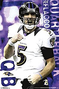 Joe Flacco Baltimore Ravens NFL Sports Poster